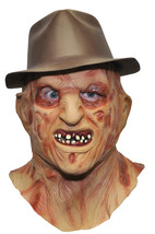 Nightmare On Elm Street Freddy Krueger with Hat Halloween Costume Mask - $32.36
