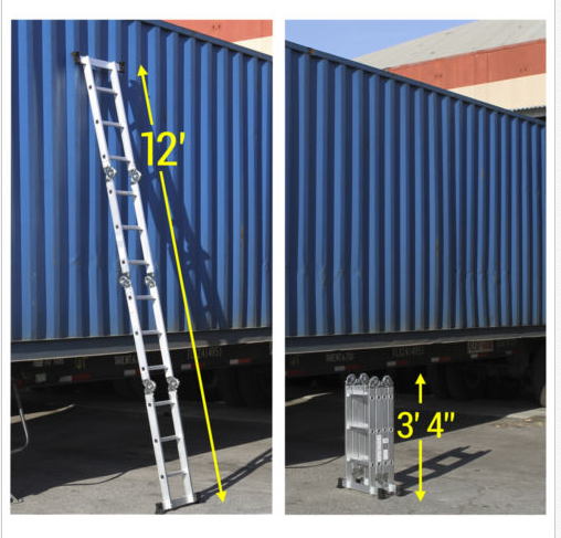 Aluminum Ladder Scaffold Heavy Duty Giant 12 5 Ft Multi