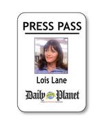 LOIS LANE NAME BADGE HALLOWEEN COSTUME PROP FOR SUPERMAN PRESS PASS PIN ... - $13.85