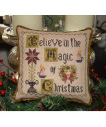 Believe In The Magic Of Christmas cross stitch chart Abby Rose Designs - $9.00