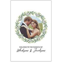 Wreath with Image Welcome to Our Wedding Ceremony Sign Poster - $12.38