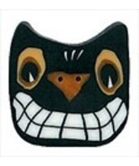 Spooky Cat 4529L handmade clay button Just Another Button   - $3.00