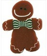 Lg Gingerbread man 4457L handmade clay button Just Another Button   - $2.75