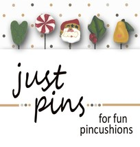 Christmas Just Pins JP101 set 5 for pincushions JABC Just Another Button Co - $13.95