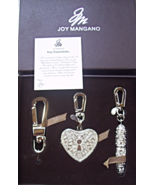 JOY MANGANO RHINESTONE PURSE CHARM KEY RING TRIO - $24.00