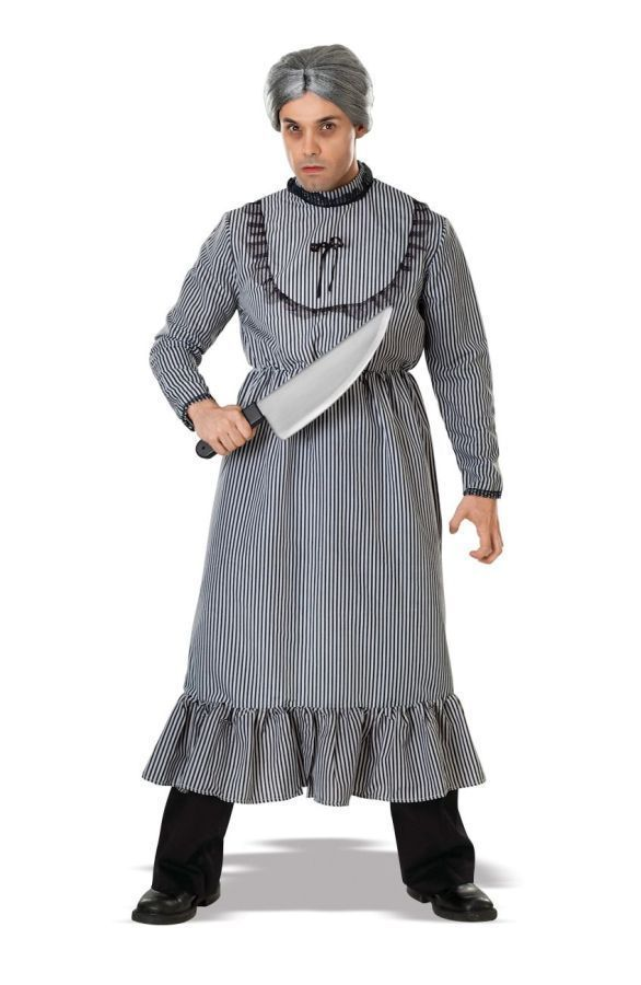 Psycho Norman Bates Motel Mother Fancy Dress Up Halloween Adult Costume