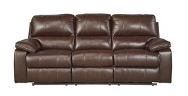 Ashley Transister Living Room Power Reclining Sofa in Coffee Contemporary Style