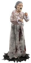 Halloween Prop Life Size Granny Animated Decor Haunted House Lifesize Sc... - €82,41 EUR
