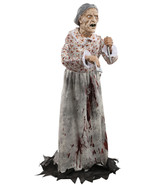 Halloween Prop Life Size Granny Animated Decor ... - $93.14