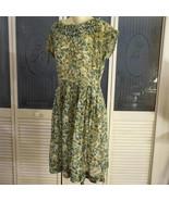 Vintage 50s Madmen Rockabilly Pleated Secretary Day Dress - $40.00