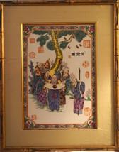 Antique Chinese Figural Painting on Porcelain Plaque Tile Lady Figures D... - $1,500.00