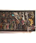 Vintage Victorian Art Deco Nouveau Rhinestone Enamel Pins Brooches Jewel... - $1,500.00