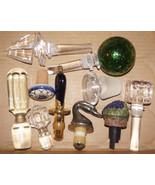 Vintage Crystal Ceramic Lucite Wine Bottle Stopper Cork Lot Rare ROSENTH... - $150.00