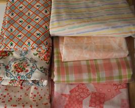 Vintage Pin Red Cotton Print Fabric Destash Lot - $30.00