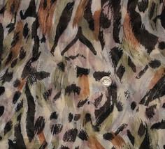 Vintage Leopard Animal Print Cotton Voile Fabri... - $50.00