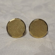 Vintage 50s Textured Faceted Edge Engravable Cufflinks Cuff Links - $24.00