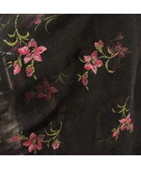 2 Way Stretch Screen Printed Floral Rose Mesh Fabric Dresses Lingerie - $12.00