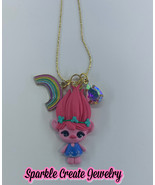 Trolls Poppy Clay Charm Necklace - $25.99