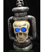 NEW Color-Changing GIANT SKULL LANTERN LAMP Gothic Pirate Party Prop Dec... - $32.64