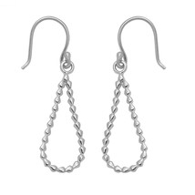 Hoop Dotted Weir Solid 925 Sterling Silver Women Jewelry Earring SHER0323 - $13.65