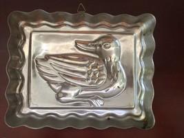 Vintage Copper Metal Tone Duck Ducky Jello Mold Rectangle Wall Decor image 8