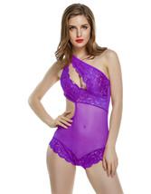 Sexy Women Bodysuit Body stoking Hot Lace Slash Neck Erotic Lingerie ITC... - $25.74