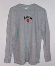 """Jim Beam"" Long Sleeve Mens Shirt, Grey Jacob's Ghost Vampire Image - $9.49"