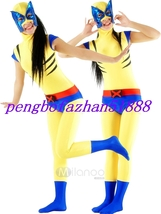Fancy Lycra Spandex Superhero Suit Catsuit Costumes Halloween Cosplay Suit S455 - $45.99