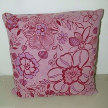 Pier 1 One Throw Pillow Mauve Flocked Floral 16180 - $16.47