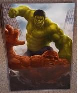 Incredible Hulk vs The Thing Glossy Art Print 11 x 17 In Hard Plastic Sl... - $24.99