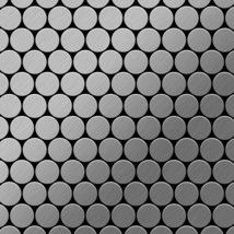Mosaic tile massiv metal Stainless Steel brushed grey 1,6mm thick ALLOY ... - $530.32