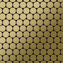 Mosaic tile massiv metal Titanium Gold brushed gold 1,6mm thick ALLOY Do... - $612.48