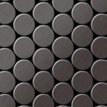 Mosaic tile massiv metal Titanium Smoke brushed dark grey 1,6mm thick AL... - $616.46