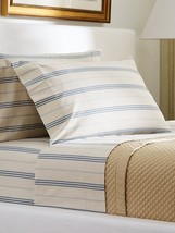 NEW Ralph Lauren Isla Menorca Stripe One Queen Flat Sheet Only 100 x 110... - $47.40