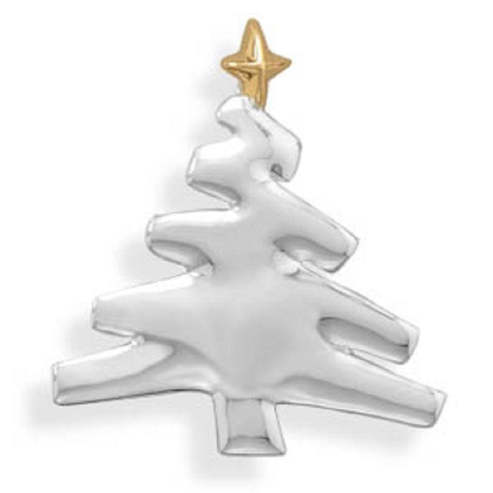 Christmas Holiday Winter Silver pin brooch NEW Choice Tree Reindeer Wreath Holly