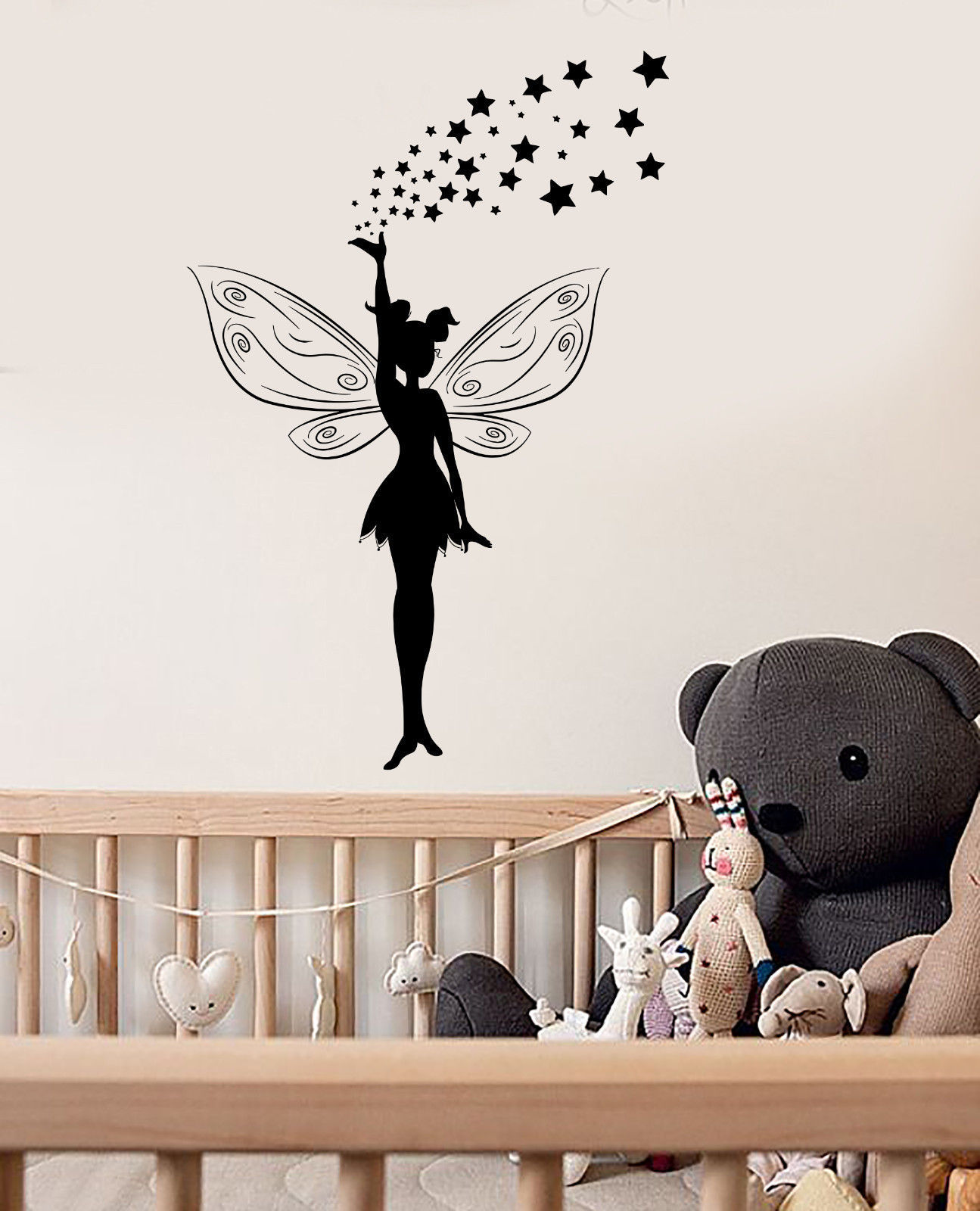Vinyl wall decal fairy tale magic girl room stickers mural for Fairy tale wall mural