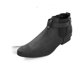 Mens handmade suede chelsea boots  mens boots mens ankle boots  black ankle bootmens thumb200