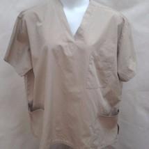 Adar Uniforms Plus Size XXXL 3X Scrubs Khaki Tan Top Short Sleeve Shirt Unisex - $15.66