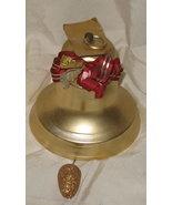 Vintage Metal Hanging Christmas Musical Bell Japan - $32.00