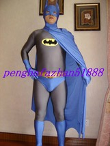 New Halloween Cosplay Suit Amazing Batman Suit Catsuit Costumes With Cape S497 - $59.99