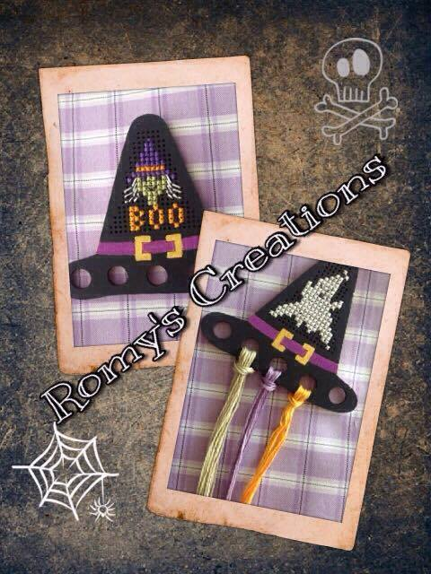 Primary image for Witch Hat Threadkeeper Wooden Stitchable Kit cross stitch kit Romy's Creations