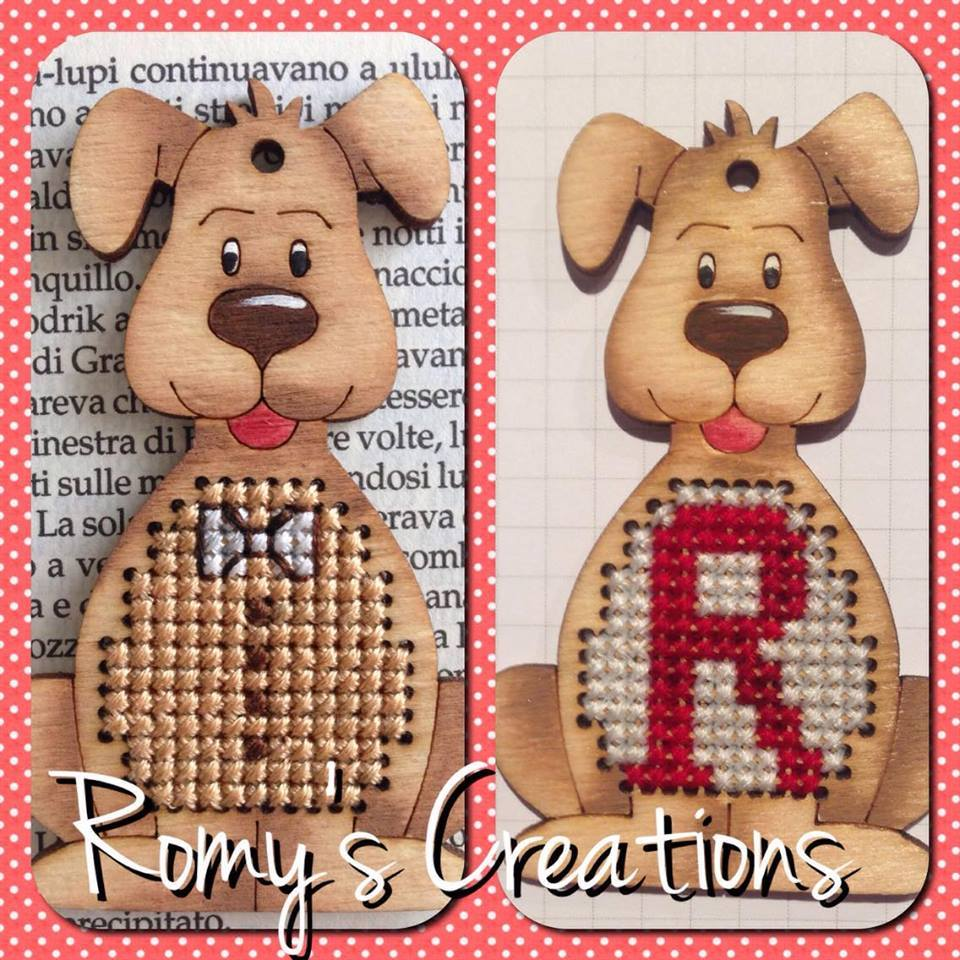 Dog Wooden Stitchable Kit cross stitch kit Romy's Creations  - $14.00