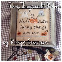 Funny Things On Halloween cross stitch chart Romy's Creations  - $9.00