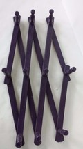 "Purple Wood Wall Hanging Rack 18"" Tall to 28"" Wide - $12.86"