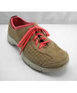 Dansko Elise Tan Suede Leather Pink Lace-Up Sporty Sneakers-Women's Size... - $33.20