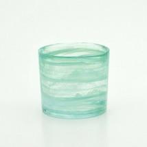 Japanese Whiskey Rock Glass Uekoshi Crystal MARBLE Oldfashion Blue Japan - $54.82