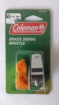 Coleman Brass Whistle with Lanyard *New* Model #2000001605 - $9.89