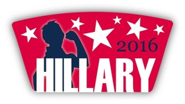 Hillary Clinton 2016 Democrat 3x4 Custom Shaped Magnet Decal Democrat - $5.99