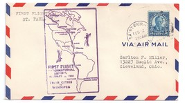 FFC 1931 First Flight St. Paul MN to Winnipeg Airmail Cover - $4.99