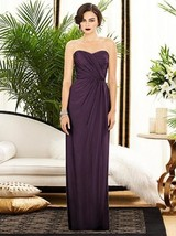 Dessy 2882......Strapless, Full length, Chiffon Purple Dress....Aubergin... - $59.39